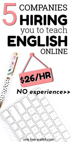 Teach English online with or without a degree, with five companies that are currently hiring. Work from home tutoring, and make money online, working flexible hours. This job suits stay at home moms looking for flexible online business ideas English Teacher Jobs, Online English Teacher, English Teachers, Earn Money From Home, Way To Make Money, Make Money Online, Money Fast, Jobs For Teachers, Online Tutoring