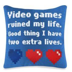 Threadless Video Games Toss Pillow - BedBathandBeyond.com
