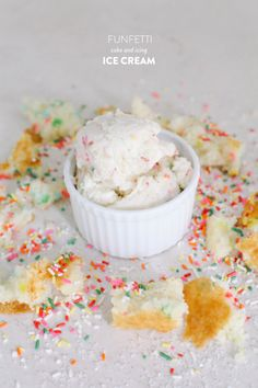 Funfetti Cake and Icing Ice Cream