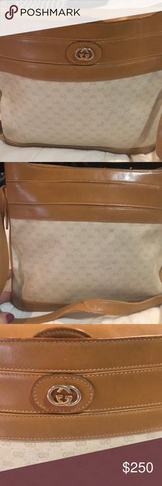 f13c2473ef61 Shop Women's Gucci Cream Tan size OS Shoulder Bags at a discounted price at  Poshmark. Description: This is a vintage Gucci bag from the Sold by lisadic.