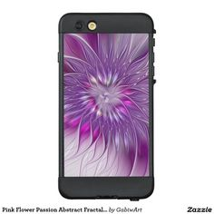 Pink Flower Passion Abstract Fractal Art LifeProof® NÜÜD® iPhone 6 Plus Case