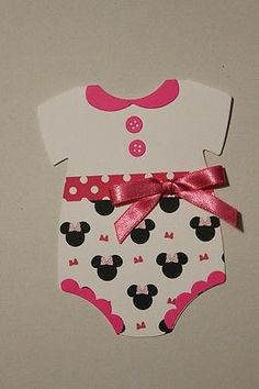 DIY Minnie Mickey Mouse Print Baby Shower Onesie Invitations | eBay