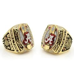 Custom 2015 Alabama Crimson Tide National Championship Ring Click Link in My Profile to Order #rolltide #alabama #sec #lsu #fsu #cfb #vfl #ugafootball #gbo #cfpbound #govols #vol