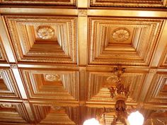 Solid Wood Carved Ceiling