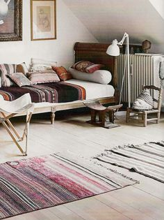 Bohemian Chic. Love the textiles! #textiles #homedecor #bohemian