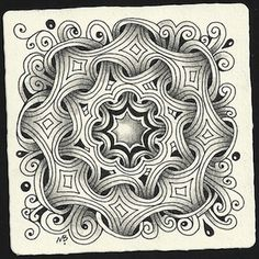 Enthusiastic Artist: Bright Owl's zendala dare ~ by Certified Zentangle Teacher Margaret Bremner