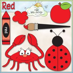 Learn The Color Red 1 - NE Early Learning Trina Clark Clip Art : Digi Web Studio, Clip Art, Printable Crafts & Digital Scrapbooking!