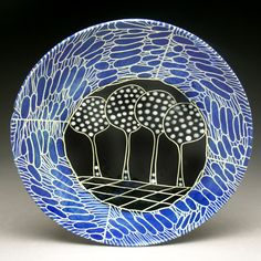 ceramic plate by Marcy Neiditz click the link now for more info. Ceramic Wall Art, Ceramic Clay, Sgraffito, Pottery Painting, Ceramic Painting, Glazes For Pottery, Ceramic Pottery, Painted Plates, Ceramic Techniques