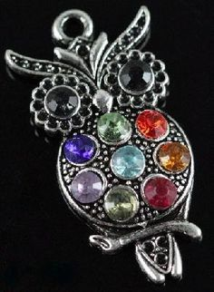 New item!  tibet silver   crystal OWL pendants. I was given this gorgeous owl as a birthday gift last year. Thanks Trish.