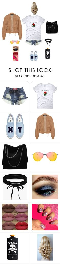 """K B W S S"" by queen-kaitlyn ❤ liked on Polyvore featuring Joshua's, Balmain, Gucci, Topshop, Boohoo and Kylie Cosmetics"