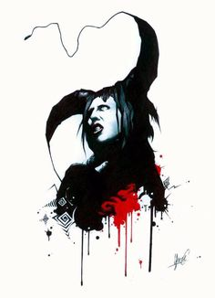 Beautiful art depicting Marilyn Manson from The Nobodies.