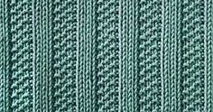 Every Saturday I will share with you a new stitch. Today's stitch is: Moss Stitch Ribs. This is a very simple but beautiful rib stitch, w...