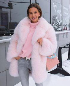 5d6913aa8 I want a pink fox fur. Pink Faux Fur CoatPink ...