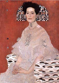 Gustav Klimt: Fritza Riedler (detail) Oil painting. 1906.