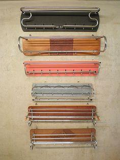 vintage retro chromen buizen kapstok Gispen stijl