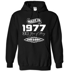 Made In 1977 Years Being Awesome T-Shirts, Hoodies. ADD TO CART ==► Funny Tee Shirts