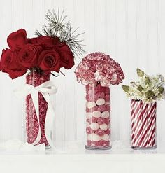 Christmas candy vases