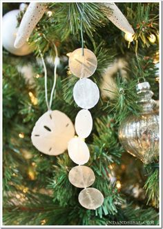 "DIY Capiz ornaments - ""Capizicles""!! Each was made in less than 30 seconds! Too easy!"