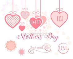 Download - Happy Mothers Day collection. Mothers Day card, sale and web banners flyers templates with lettering, hearts, balloons. Typography poster, label, brochure banner design collection. Love, Romance promotion — Stock Illustration #153216132