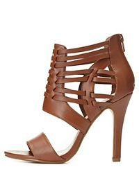 Huarache Caged Strappy Heels