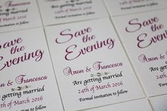 Magnetic Save the evening cards. Choice of either White 250gsm card or Ivory 240gsm card. MAGNETIC SAVE THE EVENING CARDS. We advertise variations of products we can manufacture, when buying our products you ordering the product(s) in the preference(s) you choose. | eBay!