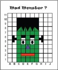 mad monster coordinate grid activity
