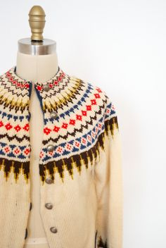 1970's Fair Isle Sweater от JOHNSTONHOMECO на Etsy