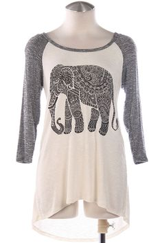 I have this thing for elephants on t-shirts: Tribal Elephant Top Teen Fashion, Fashion Beauty, Fashion Outfits, Womens Fashion, School Looks, Corsage, Blazers, Dress Me Up, Passion For Fashion