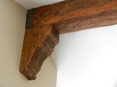 City Plastering - Rustic Faux Beams > Rustic Corbels > Faux Beam Corbel close up Wood Ceilings, Ceiling Beams, Faux Wood Beams, Ceiling Treatments, Exposed Beams, Diy Home Improvement, Rustic Kitchen, Barn Wood, Decoration