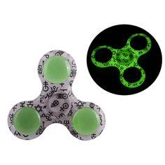 Luminous Crystal Tri-Fidget Spinner  in Dark Light riangle Fidget Hand Spinner EDC  Fingertip Gyro Autism ADHD Stress Relieve #Affiliate