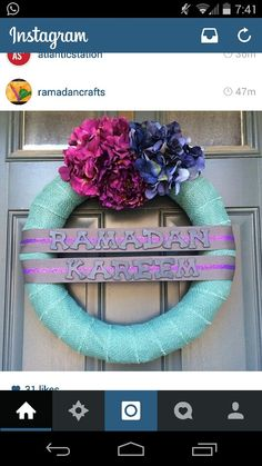 Easy Ramadan pool noodle wreath