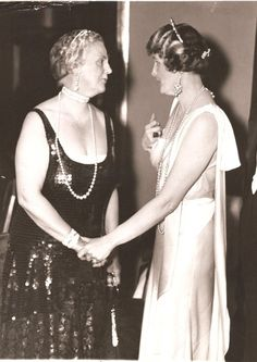 June Ball at Waldorf-Astoria. June 5, 1934 . Left-First Grand Dame of Palm Beach, Eve Stotesbury Right-2nd Grand Dame of Palm Beach, Marjorie