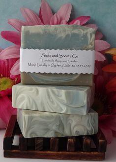 LIFE'S-A-BEACH Handmade Body soap with Coconut Milk, Aloe Vera Juice, Hemp Oil, Sea and Kaolin Clays by SudsNScentsCo on Etsy