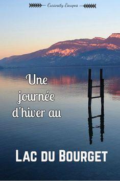 Une journée d'hiver au Lac du Bourget – Savoie. Aix-les-Bains