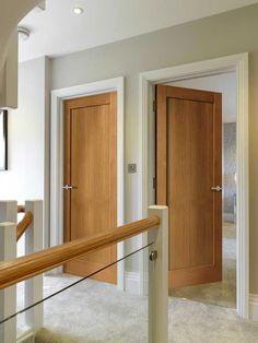 Internal Doors With Frosted Glass Panels Internal Wooden Doors, Entry Doors With Glass, Glass Panel Door, Doors With Glass Panels, Oak Panels, Panel Doors, Interior Door Styles, Oak Interior Doors, Interior Door Colors