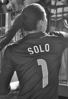 Hope Solo, always looking up to her.