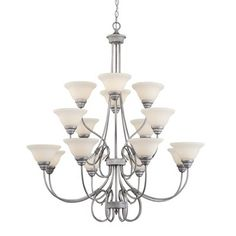 Millennium Lighting 1366 Fulton 16 Light Three Tier Chandelier Specifications:Number of Bulbs: Base: Medium Included: NoWatts Per Bulb: Length: Length: Star: NoUL Listed: YesUL Rating: Dry Location Rubbed Silver Brushed Nickel Chandelier, Silver Chandelier, Chandelier Lighting, Transitional Chandeliers, Contemporary Chandelier, Lighting Store, Home Lighting, Home Ceiling, Ceiling Lights