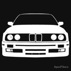 White BMW 3 Series (e30)