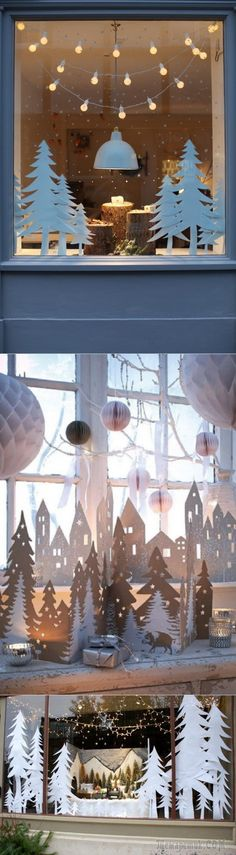 Cute window decor. Can use Silhouette to cut!