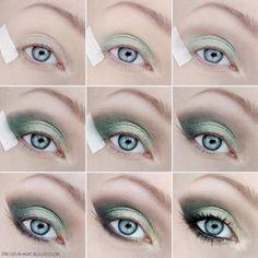 Fotos de moda | Tutorial sombra de ojos en color verde | http://soymoda.net