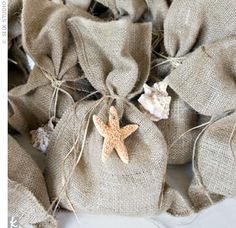 sea spa pkg with candle soap and sponge in burlap bag