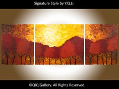56 Large Painting Original Heavy Texture Impasto by QiQiGallery