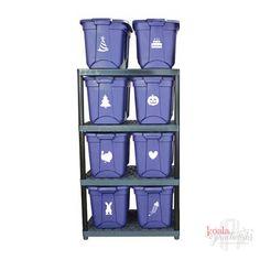 Christmas Storage Bins, Holiday Storage, Large Storage Totes, Tote Storage, Vinyl Storage, Decorative Storage, Do It Yourself Organization, Halloween Labels, Plastic Bins