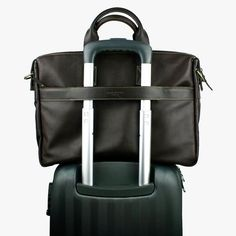 With the strap for attaching the bag to luggage handles, this laptop bag is the perfect match for frequent travellers Men's Collection, Chocolate Brown, Perfect Match, Briefcase, Laptop Bag, Summer 2016, Travel Bags, Compact, Brown Leather