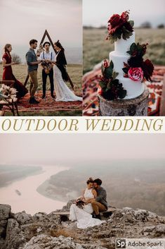 Beautiful outdoor wedding on a hill near a river. This outdoor wedding with a boho vibe is a beautiful inspiration for all brides. Wedding Planer, Brides, Outdoor, Boho, Beautiful, Photo Shoot, Outdoors, Wedding Bride, Bohemian