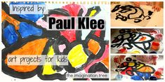 Abstract Line and Colour Paintings Inspired by Paul Klee - The Imagination Tree