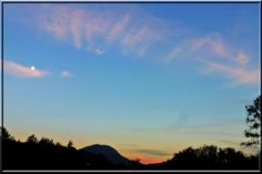 Abendhimmel über dem Gaisberg
