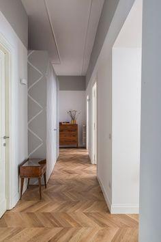 Loft Flooring, Oak Parquet Flooring, Appartement Design, Apartment Interior Design, Elegant Homes, Classic House, One Bedroom, Architecture, Decoration