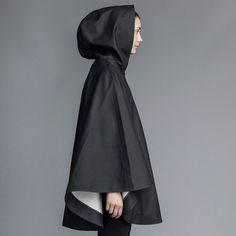 Öland - Black Rain Cape – Stutterheim Raincoats