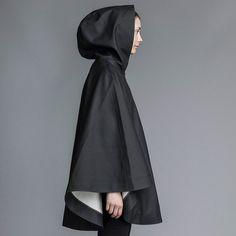Öland - Black Rain Cape – Stutterheim Raincoats